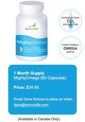 MightOmega - Omega 3 Fish Oil - Dave Norona