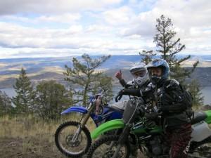 Kim Duess and Dave Norona Dirtbiking at Bear Creek