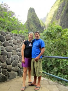 Kim Duess and Dave Norona in Maui
